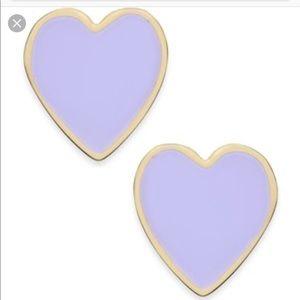 Kate Spade Purple Heart earrings
